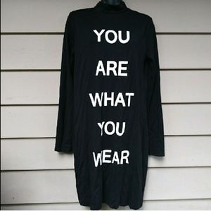 You are what you wear tunic dress medium
